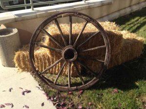 Wagon Wheel Decor for Rent in Salt Lake City Utah