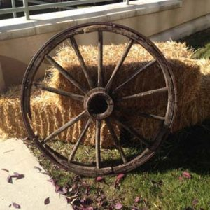 Wagon Wheel Decor for Rent in Salt Lake City Utah
