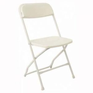 White Resin Folding Chair for rent in Utah