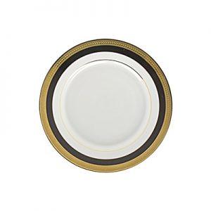 Sahara Black and Gold salad plate 8 inch for rent in Salt Lake City Utah