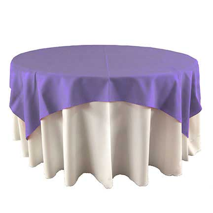Amethyst purple overlay linen for rent in Nevada