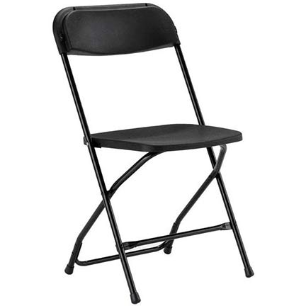 Black Folding Chair for rent in Utah