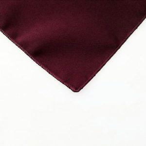 Burgundy Polyester Napkin for rent in Provo Utah