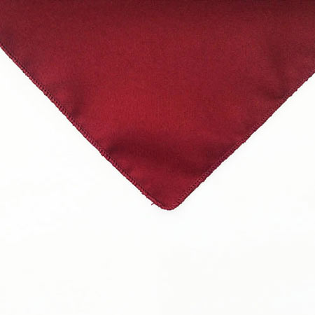 Cardinal Deep Red Polyester napkin linen for rent in Layton Utah