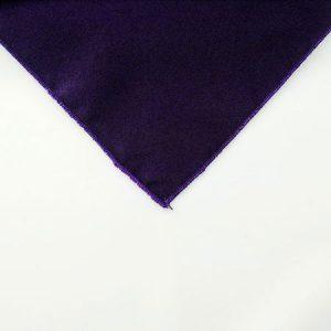 Eggplant Purple Polyester Napkin Linen for rental in Salt Lake City Utah