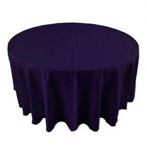 Eggplant Deep Purple linen for rent in Logan utah
