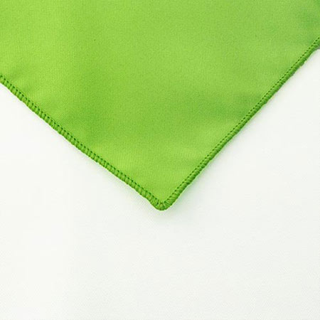 Lime Polyester Napkin Linen for rent in SLC utah