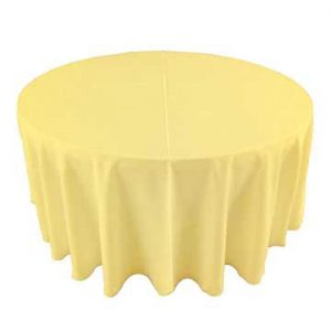 Maize pastel yellow linen for rent in the Salt Lake Valley