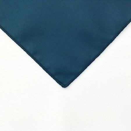 Dark Pacifica Blue Polyester Napkin linen for rental in Riverton Utah
