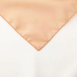 Peach Polyester Napkin Linen for rent in Riverton Utah