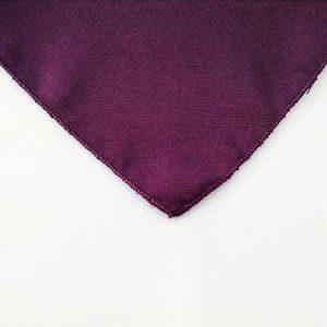 Plum Purple Polyester Napkin Linen for rent in Ogden UT