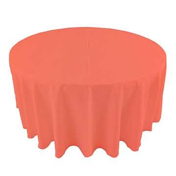 Shrimp Salmon Pink table linen for rent in South Jordan Utah
