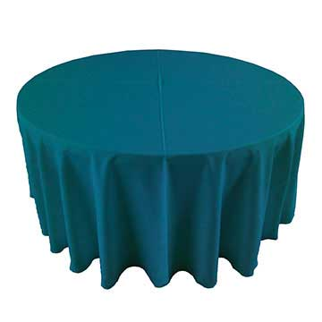 Deep Teal Peacock Linen for rent in Sandy utah