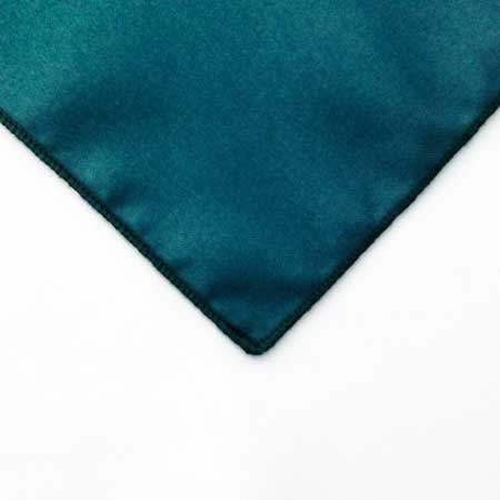 Deep Teal Peacock polyester Napkin Linen for rent in Sandy utah