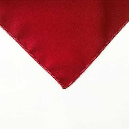Turkey Red Polyester Napkin Linen for rental in SLC utah
