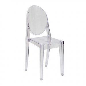 Clear Ghost Chair for rent in Utah