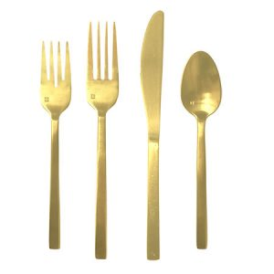 Brushed Gold Flatware for Rent in Salt Lake City Utah