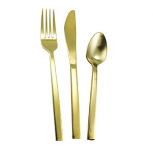 Brushed Gold Flatware for rent in Salt Lake City