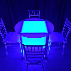 LED Round Table for Rent in Utah