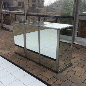 Silver Frame Mirrored Bar for Rent in Salt Lake City, Utah