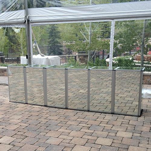 Six Panel Mirror Bar for Rent in Utah