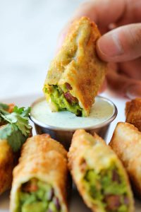 fried avocado dipped in ranch