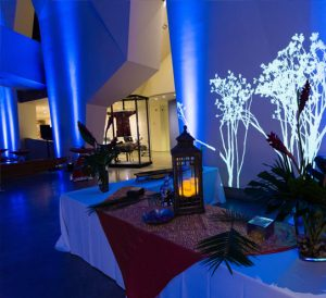 event tables with lights