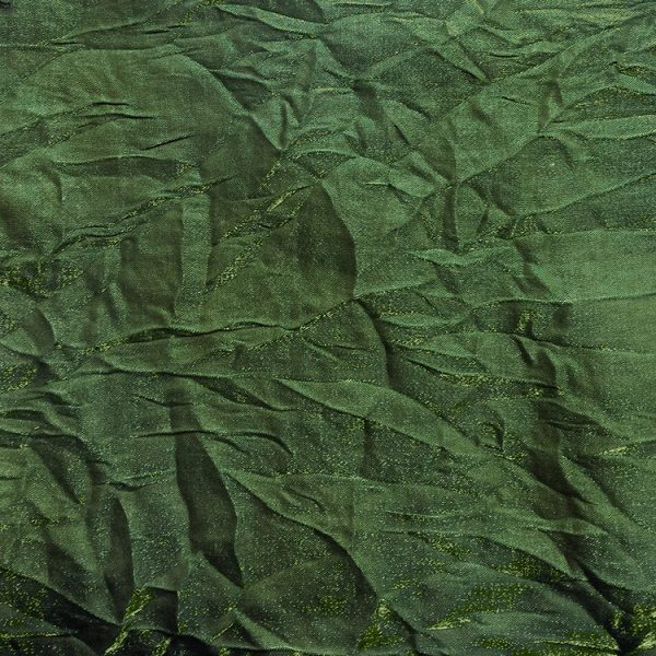 Poly Shalimar Bottle Green Rayon Linen Swatch