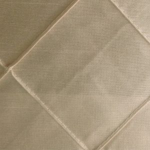 Polyester Champagne pintuck Linen Swatch