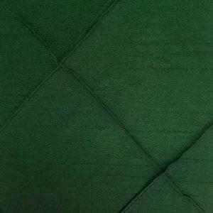 Polyester Hunter Green Pintuck Linen for rent in Salt Lake City Utah