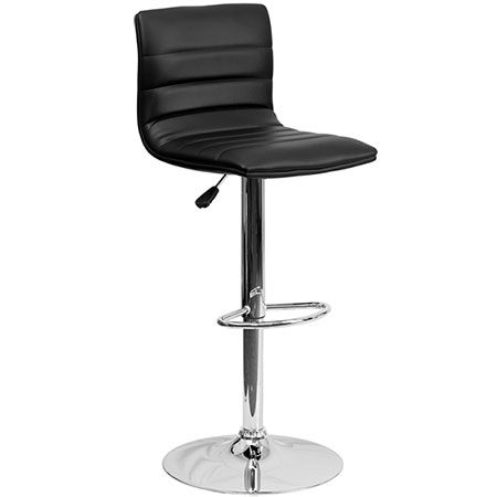 Contemporary Black and Chrome Bar Stool For Rent in Salt Lake City Utah