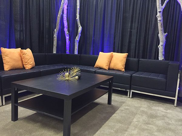Black-Coffee-Table-with-Lounge-Furniture-Display Salt Lake City Utah