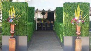 Boxwood Hedge Entrance for rent in Salt Lake City Utah