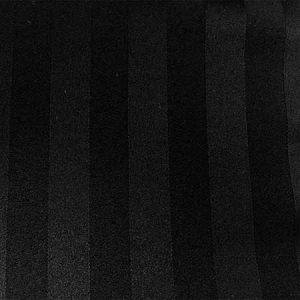 Black Satin Stripe Linen for Rent in Salt Lake City Utah