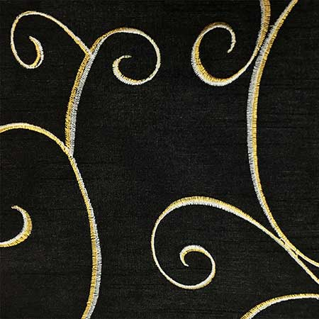 Nova Black Swirl Linen for Rent in Salt Lake City Utah