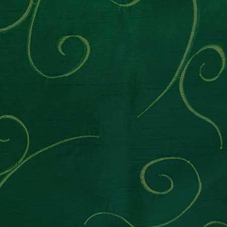Nova Hunter Green Swirl Linen for Rent in Salt Lake City Utah