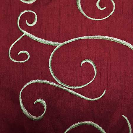 Nova Merlot Swirl Linen for Rent in Salt Lake City Utah