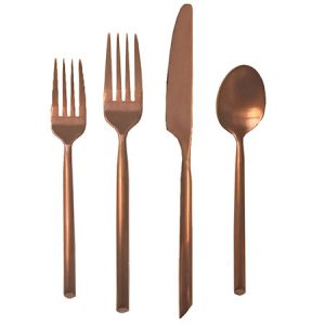 Brushed Copper Flatware for Rent in Salt Lake City Utah