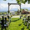 Fruitwood Arch with Elio Chairs