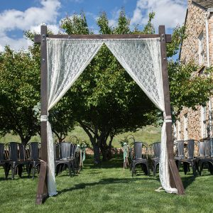 Fruitwood Arch with Lace Rear View for Rent in Utah