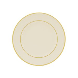 Gold Double Lined Cream Bread and Butter Plate for Rent in Salt Lake City Utah