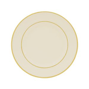 Gold Double Line Cream Salad Plate for Rent in Salt Lake City Utah