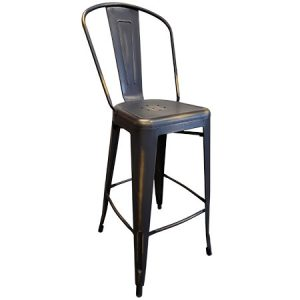 Counter Height Distressed Copper Elio Chair for rent in Salt Lake City Utah