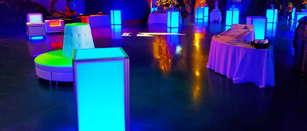 LED Pillar Lighting for a Private Party in Salt Lake City Utah