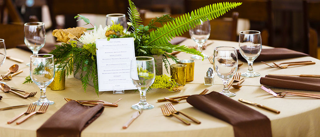 Table Setting with Flatware and Glasses for rent in Salt Lake City Utah