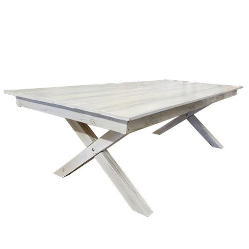 Whitewash Wood Banquet Table for rent in Salt Lake City Utah