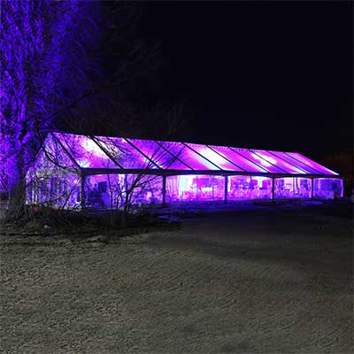 40 x 100 Clear Top Canopy Tent for rent in Salt Lake City Utah