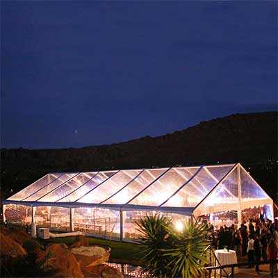 40 x 80 Clear Top Canopy Tent for rent in Salt Lake City Utah