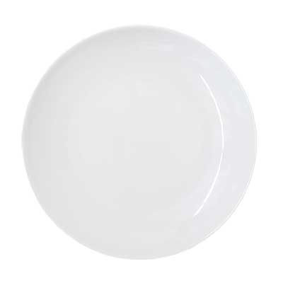 Coupe Bright White Dinner Plate for rent in Salt Lake City Utah