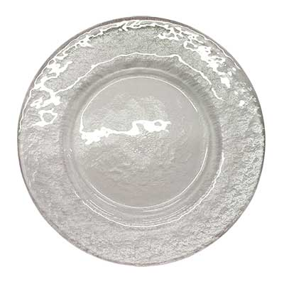 Hammered Glass Charger Plate for rent in Salt Lake City Utah